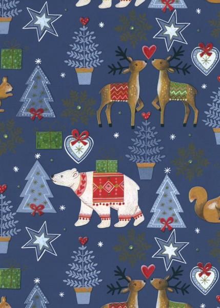 Geschenkpapier Weihnachten Dessin 49321