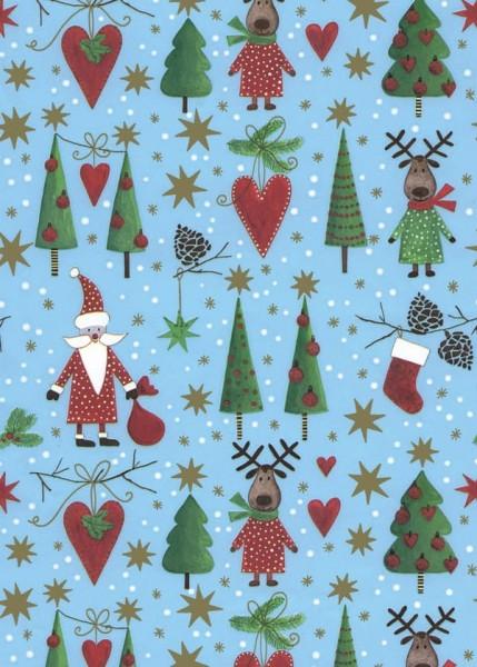 Geschenkpapier Weihnachten Dessin 49645