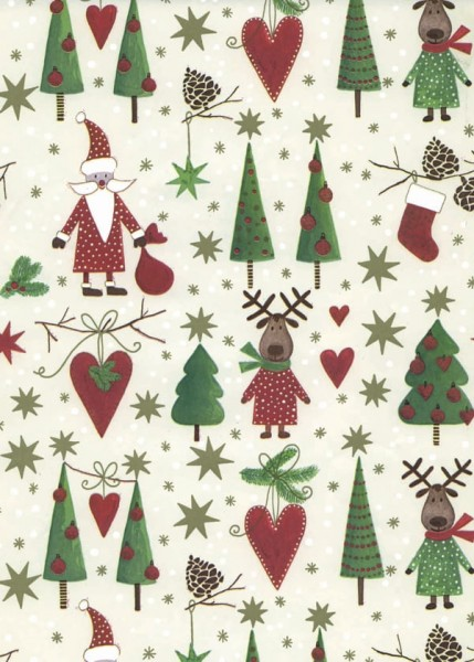 Geschenkpapier Weihnachten Dessin 49644
