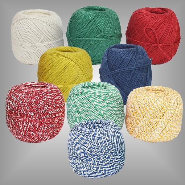 Baumwollkordel 250m Rolle verschiedene Farben