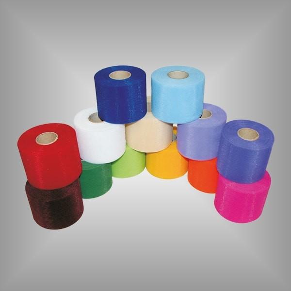Tüllband versch. Farben 75mm breit, 50m Rolle