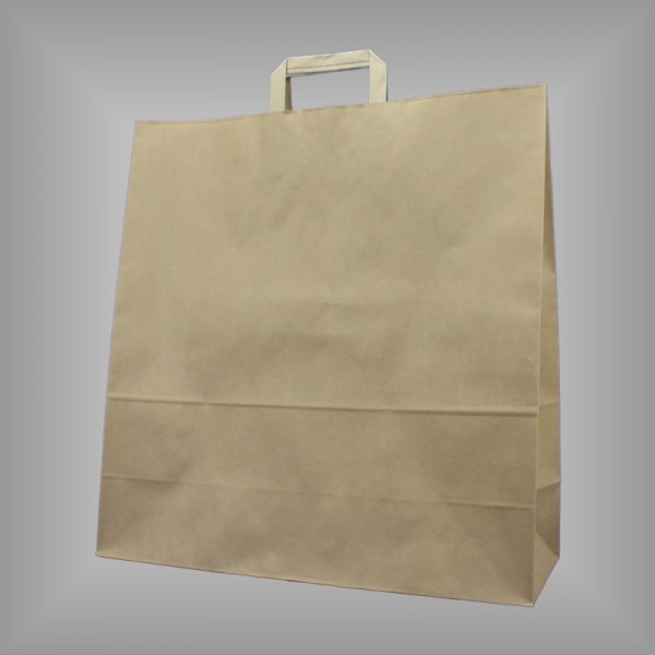 150 Papiertüten braun 45x17x47cm, flache Henkel