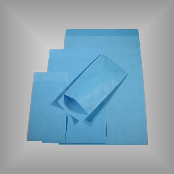 Papierflachbeutel Hellblau