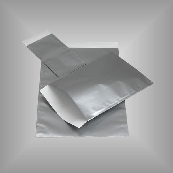 Papierflachbeutel Silber