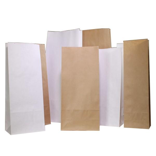 Papierblockbodenbeutel weiß