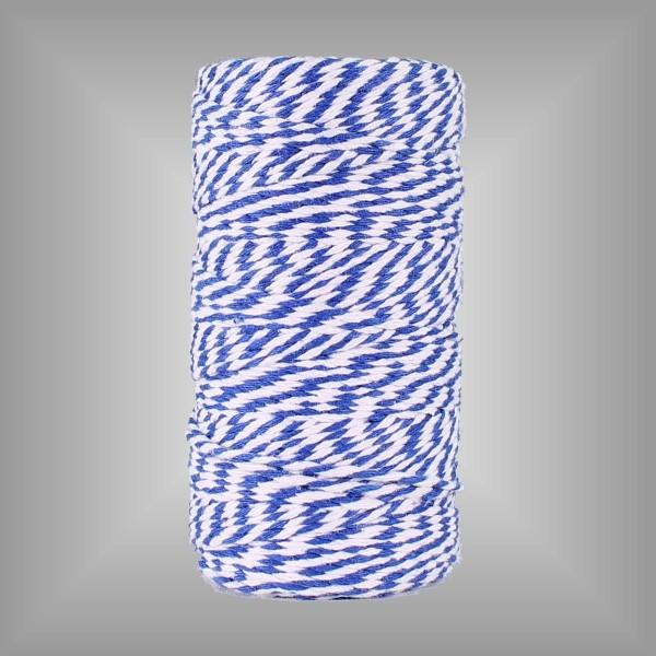 Baumwollkordel Candy, 100m Rolle, 2 mm breit