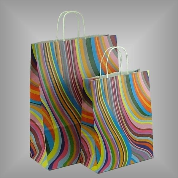 150 Papiertragetaschen Seventies, versch. Größen