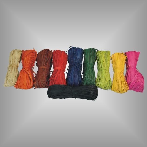 50g Bastbündel verschiedene Farben