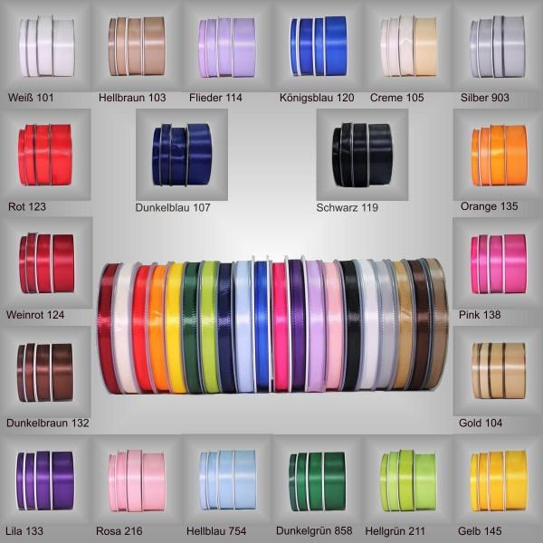 Textilband ohne Drahtkante, versch. Farben