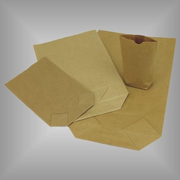 Papierbodenbeutel braun versch. Größen
