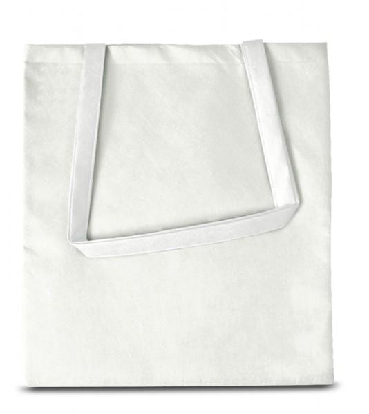 Textiltaschen 38 x 42 cm mit langen Henkeln weiß