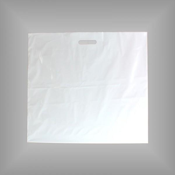 400 Plastiktüten weiß 60x50+5 cm