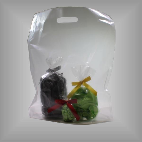 Plastiktragetaschen transparent, versch. Größen