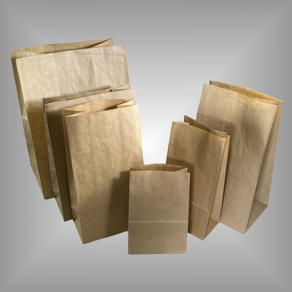 Papierblockbodenbeutel braun, versch. Größen