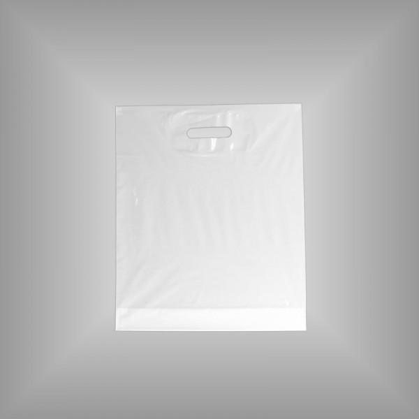 500 Plastiktüten weiß 38x45+5cm